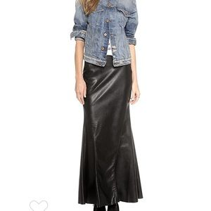 Blank NYC Faux leather Maxi Skirt